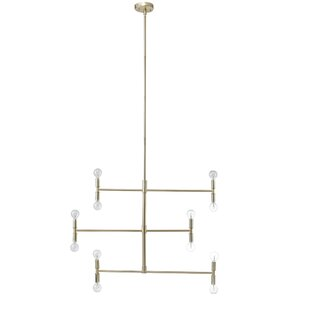 Wrought Studio Miley 12-Light Sputnik Chandelier
