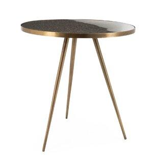 Kailin Top Modern Metal Side End Table By Orren Ellis