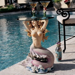 Mermaid Of Magellan's Cove Glass Topped Statue Table by Design Toscano Great Reviews