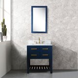Foulk 30 Single Bathroom Vanity Set with Mirror by Everly Quinn