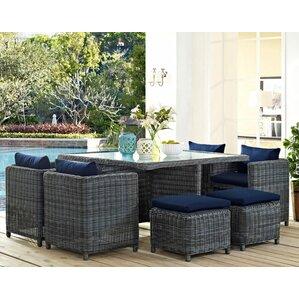 Modern Patio Dining Furniture mid-century modern patio dining sets you'll love | wayfair
