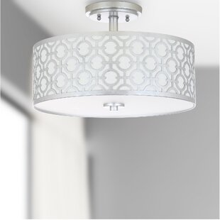 Buy clear Bindy 3-Light Semi Flush Mount By Willa Arlo Interiors