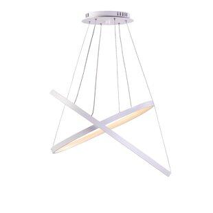 Roscoe 2-Lights Geometric Chandelier by Orren Ellis