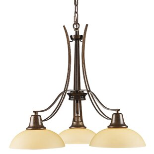 Winston Porter Wherry 3-Light Shaded Chandelier