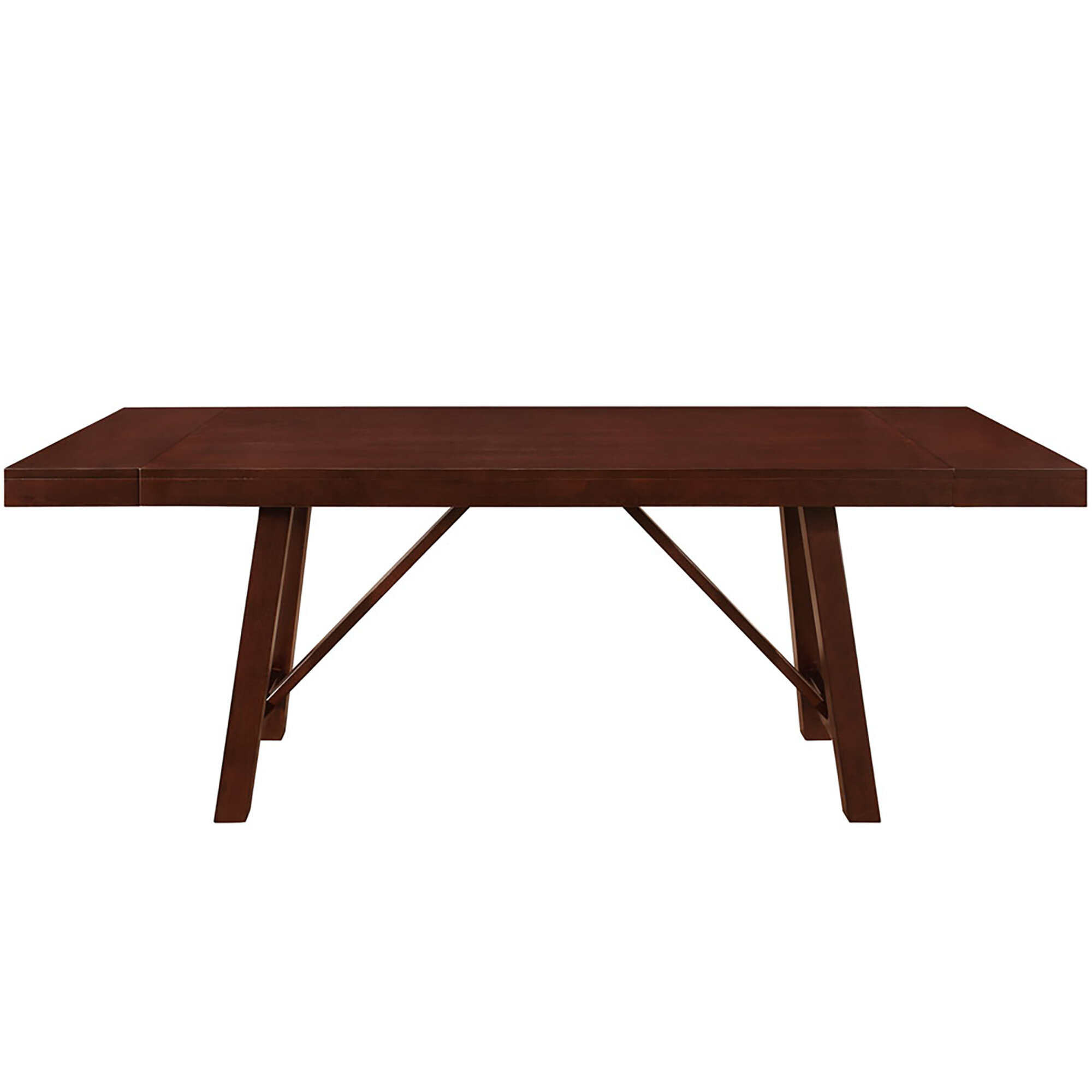 Red Barrel Studio Chiswick Solid Wood Trestle Extendable Dining