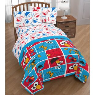 Elmo Cookie Squares Twin Sheet Set