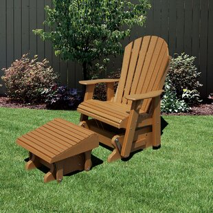 Rosecliff Heights Patricia Plastic Adirondack Chair with Ottoman