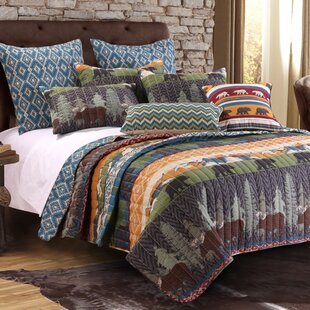 Black Bear Lodge Reversible Quilt Set by Greenland Home Fashions Today Only Sale