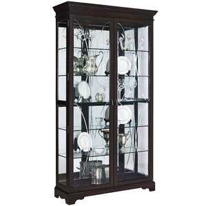 Blakeway Lighted Curio Cabinet by Darby Home Co
