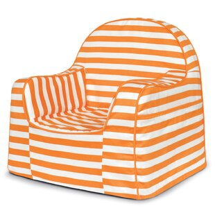 Little Reader Stripes Personalized Kids Novelty Chair by P'kolino