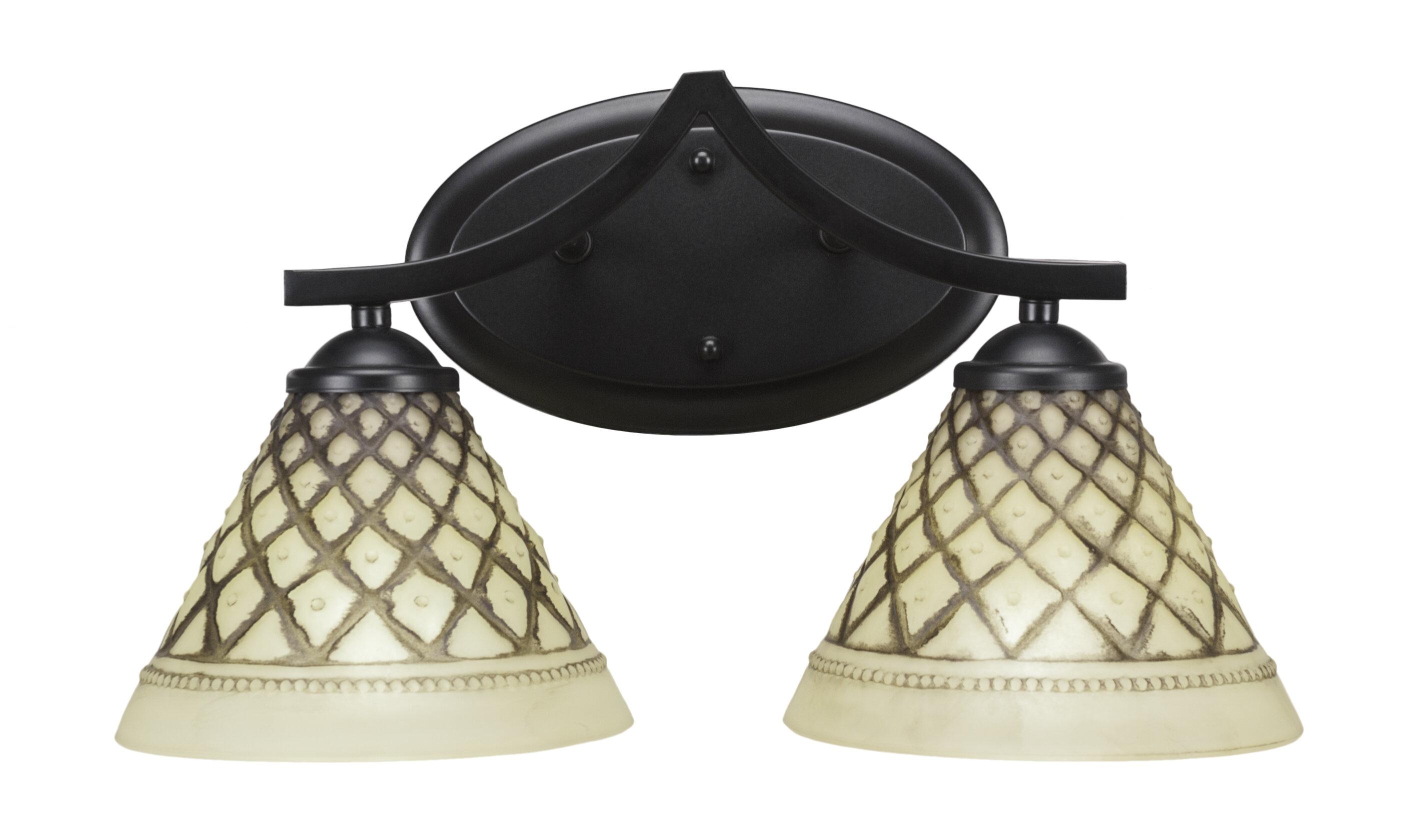 Winston Porter Pickens 2 Light Vanity Light Wayfair
