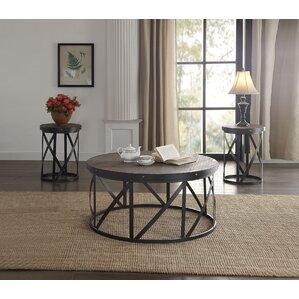 Giona 3 Piece Coffee Table Set