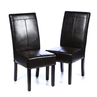 Andover Mills T-Stitch Upholstered Dining Chair (Set of 2)