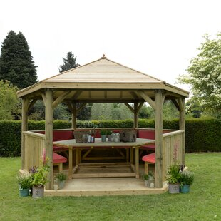 Furnished 4.9m X 4.3m Wooden Gazebo With Timber Roof Image