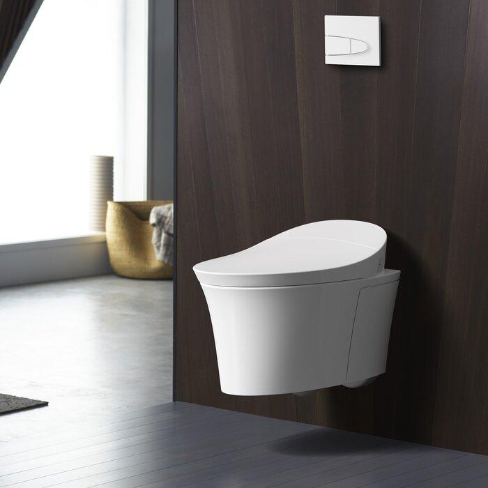 Toilette suspendue au mur avec chasse sans contact® intelligent Veil