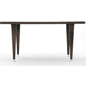 Bryanna Outdoor Rectangle Wicker Dining Table by Orren Ellis