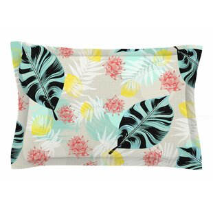Mmartabc 'Tropical Plants' Illustration Sham by East Urban Home Best Design