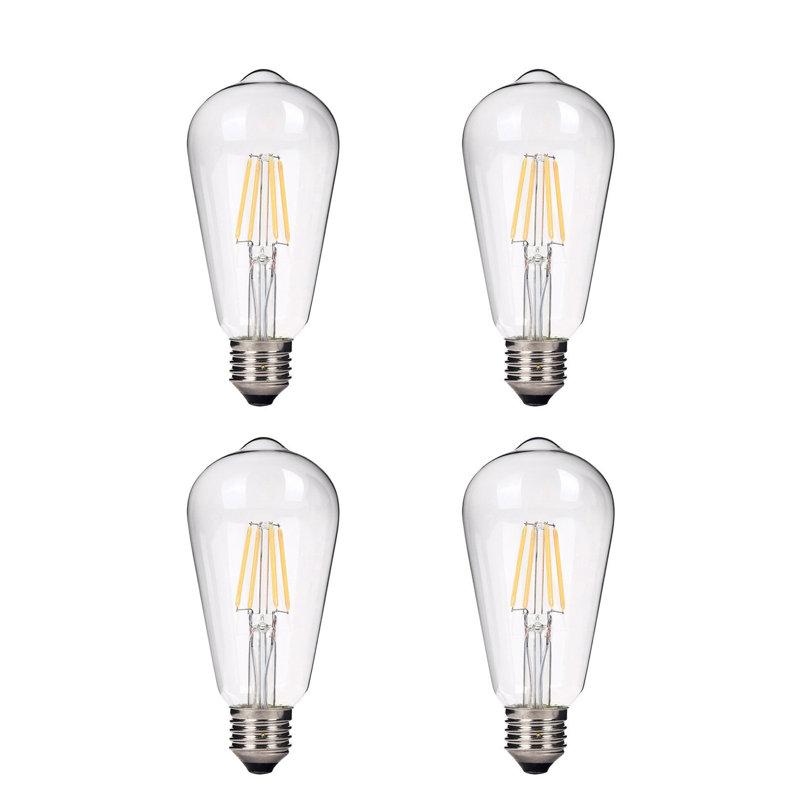 Emark 40 Watt Equivalent St64 Led Dimmable Light Bulb Warm White 2700k E26 Meduim Standard Base Reviews Wayfair
