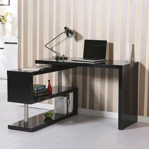 Rotating L Shape Computer Desk