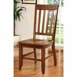 Mccombs Slat Back Side Chair in Dark Oak (Set of 2) by Canora Grey