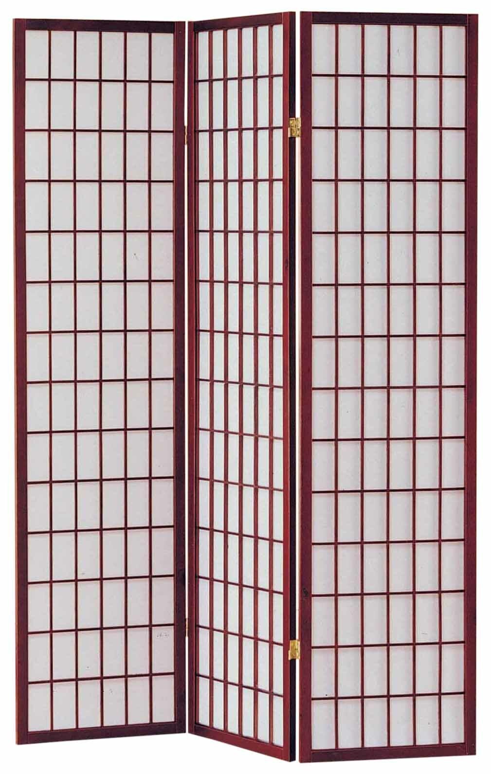 10 Panel 3-10 Panel Room Divider Square Design Cherry