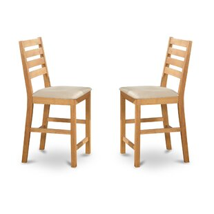 Café Upholstered Dining Chair (Set of 2) Wooden Importers
