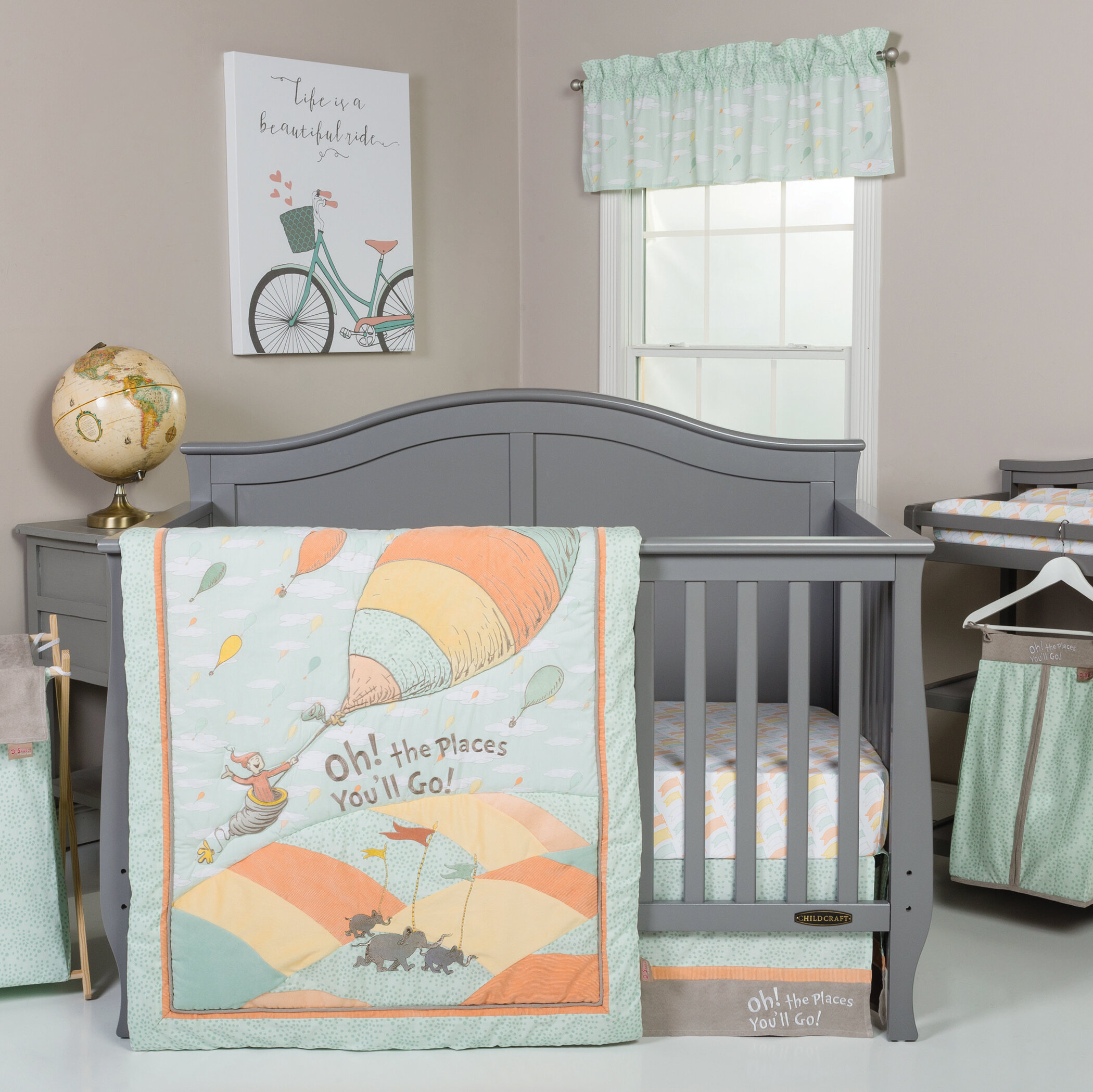 Dr. Seuss Oh The Places Youu0027ll Go! 5 Piece Crib Bedding Set