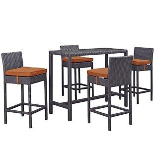 Latitude Run Ryele 5 Piece Bar Height Dining Set with Cushion