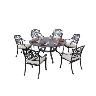 Darby Home Co Keyes 7 Piece Dining Set with Cushions