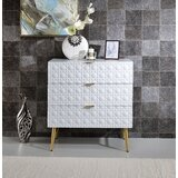 Truesdale 3 Drawer Accent Chest by Everly Quinn