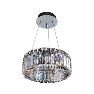 Richwood 3-Light Crystal Pendant by Everly Quinn