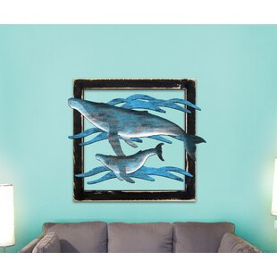 whales 3 letters wooden monogram wall decor