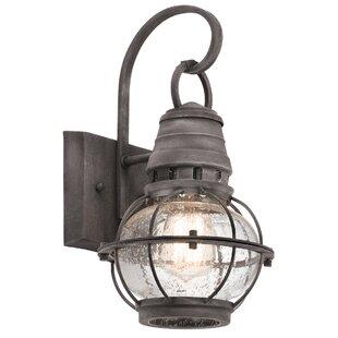 Seaport 1-Light Outdoor Wall Lantern by Breakwater Bay