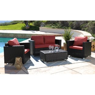 Jadon 4 Piece Sofa Set with Cushions