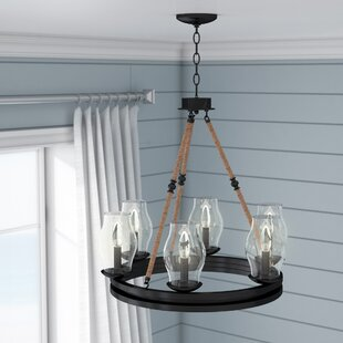 Cobham 6-Light Wagon Wheel Chandelier by ..