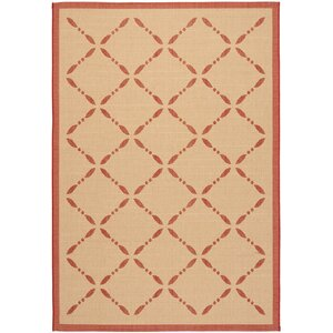 Martha Stewart Creme/Red Area Rug