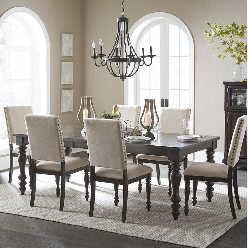 Alcott Hill Yarger 7 Piece Extendable Dining Set Amp Reviews