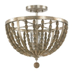 Donny Osmond Home Lowell 3-Light Semi Flush Mount