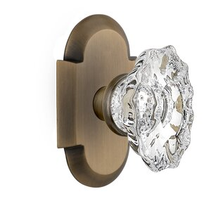 Chateau Passage Door Knob with Cottage Plate by Nostalgic Warehouse