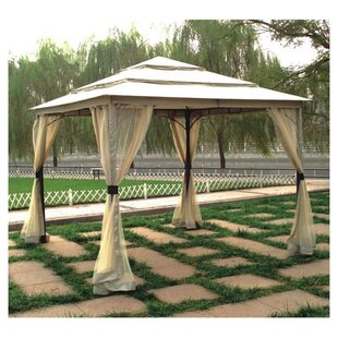 10 Ft. W x 9 Ft. D Metal Patio Gazebo by DC America
