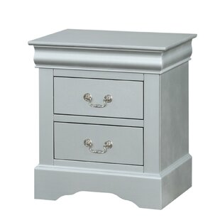Petrovich Wooden 2 Drawer Nightstand
