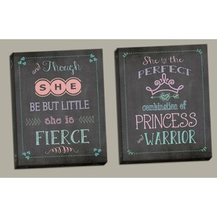 Disanto And Though She Be But Little She is Fierce and Perfect Combination of Princess and Warrior by Harriet Bee