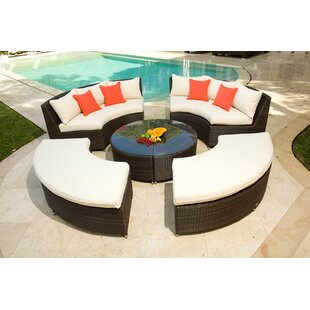 Rorie 5 Piece Rattan Multiple Chair Seating Group with Cushions