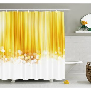 Best Reviews Ombre Striped Design with Bubble alike Circles Artwork Shower Curtain Set ByAmbesonne