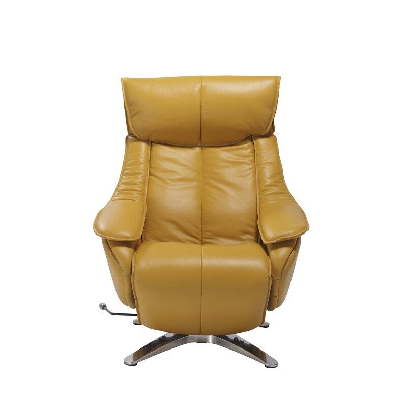 Kagan Leather Manual Swivel Recliner