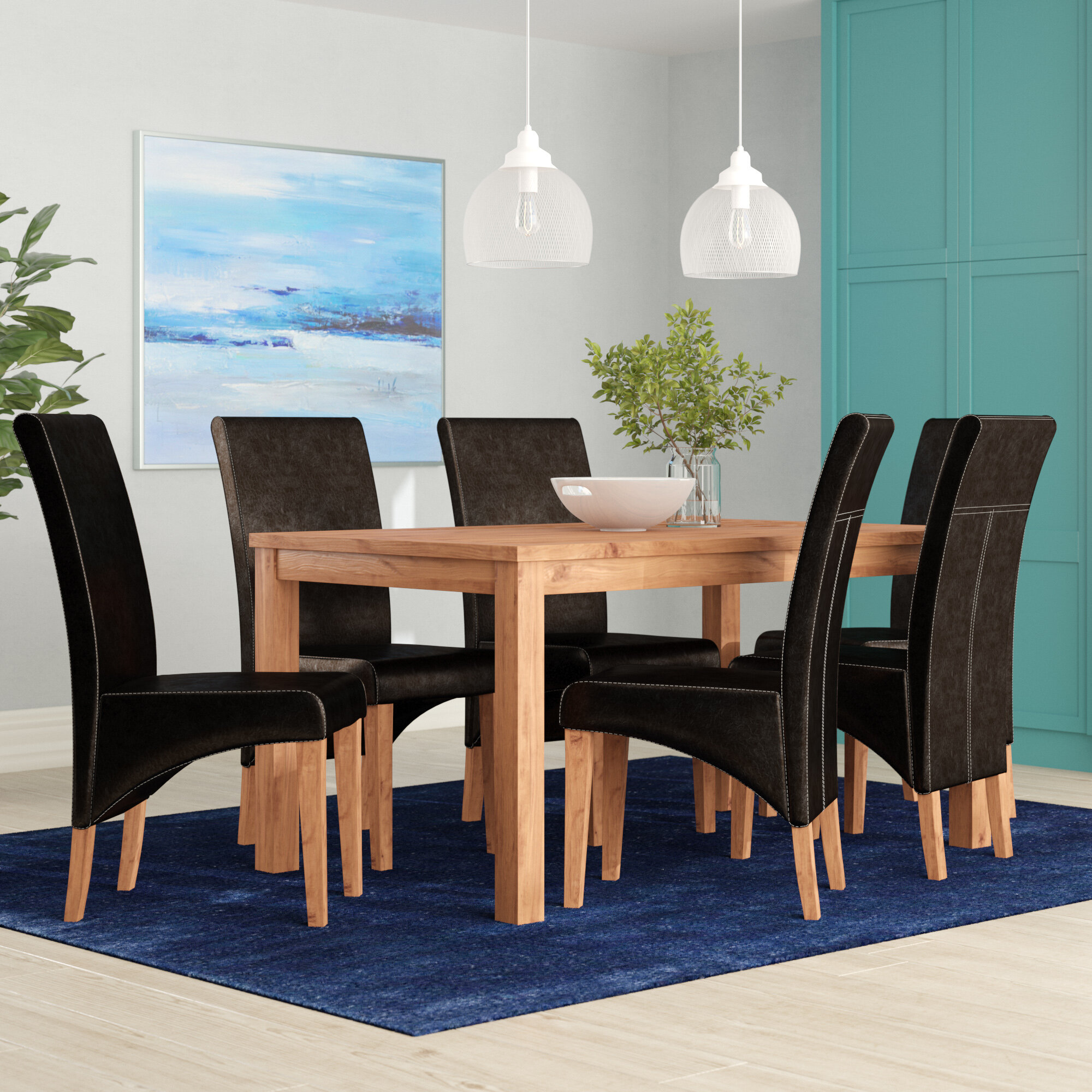 Riley Ave Samira Dining Set With 6 Chairs Reviews Wayfair Co Uk