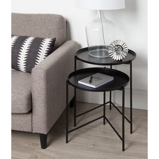 Deals Petersburg Round Metal 2 Piece Nesting Tables By Bungalow Rose