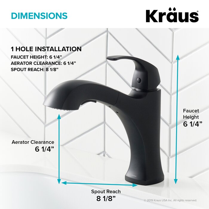 Oren Dual Function Pull out Single Handle Kitchen Faucet