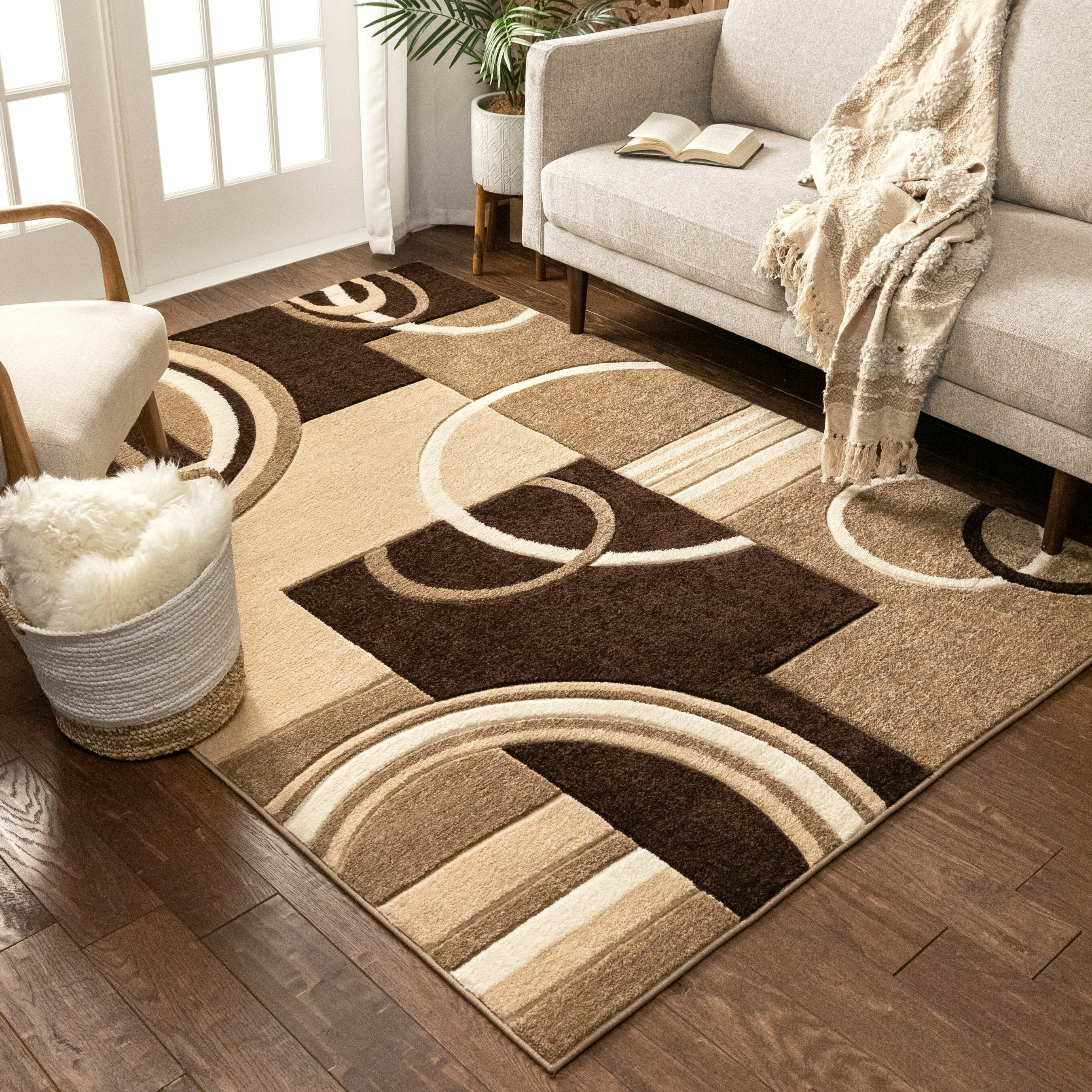 Winston Porter Ruby Abstract Brown Beige Area Rug Reviews Wayfair