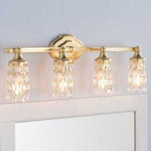 Reviews Destrey Traditional 4-Light Vanity Light ByWilla Arlo Interiors